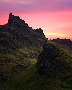 Sunrise at the Quiraing, Isle of Skye, Inner Hebrides, Scotland, United Kingdom, Europe