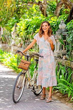 Woman in Seminyak, Bali, Indonesia, Southeast Asia, Asia