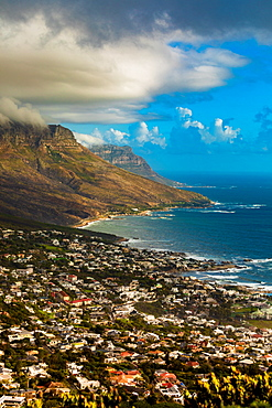 View of Camps Bay, Cape Town, South Africa, Africa