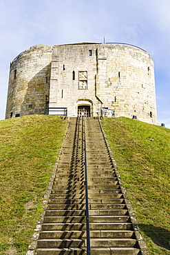 Clifford's Tower, York Castle, York, North Yorkshire, England, United Kingdom, Europe - 1226-1033