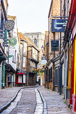 The Shambles, a preserved medieval street in York, North Yorkshire, England, United Kingdom, Europe - 1226-1035