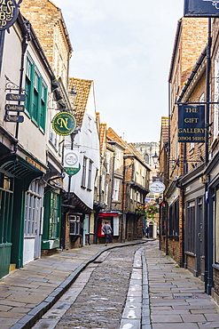 The Shambles, a preserved medieval street in York, North Yorkshire, England, United Kingdom, Europe - 1226-1037