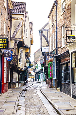 The Shambles, a preserved medieval street in York, North Yorkshire, England, United Kingdom, Europe - 1226-1040