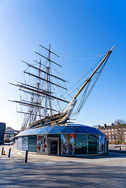 Cutty Sark, Royal Museums, UNESCO World Heritage Site, Greenwich, London, England - 1226-1050