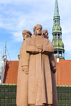 Latvian Red Riflemen Statue, Riga, Latvia, Europe