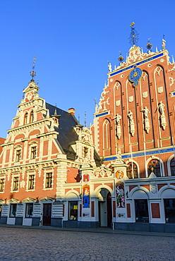 House of Blackheads, Town Hall Square, UNESCO World Heritage Site, Riga, Latvia, Europe