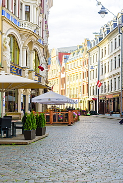 Zirgu Street, Old Town, UNESCO World Heritage Site, Riga, Latvia, Europe