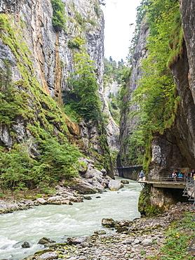 Aareschlucht Gorge near Meiringen, Bernese Oberland, Switzerland, Europe