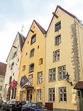 Tallinn's Three Sisters, a trio of merchants' houses built in 1362, Old Town, UNESCO World Heritage Site, Tallinn, Estonia, Baltics, Europe