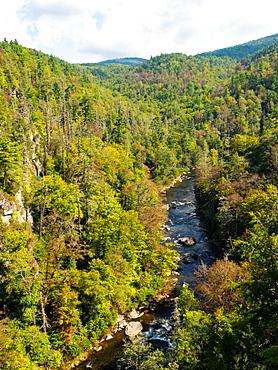Linville River, Blue Ridge Mountains, Appalachia, North Carolina, United States of America, North America
