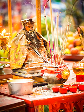 Shrine, Hungry Ghost Festival, Georgetown, Penang, Malaysia, Southeast Asia, Asia