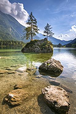 Lake Hintersee, Berchtesgadener Alpen, Bavaria, Germany, Europe - 1244-6