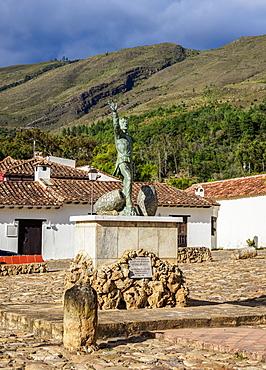 Antonio Ricuarte Monument, Villa de Leyva, Boyaca Department, Colombia, South America