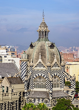 Rafael Uribe Uribe Palace of Culture, elevated view, Medellin, Antioquia Department, Colombia, South America