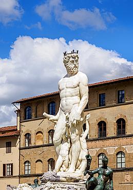 Fountain of Neptune, Piazza della Signoria, Florence, UNESCO World Heritage Site, Tuscany, Italy, Europe