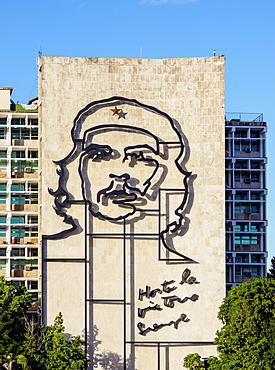Che Guevara Memorial at Plaza de la Revolucion (Revolution Square), Havana, La Habana Province, Cuba, West Indies, Central America
