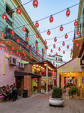 Calle Cuchillo, Chinatown, Havana, La Habana Province, Cuba, West Indies, Central America