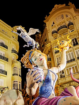 The Fallas (Falles), a traditional celebration held annually in commemoration of Saint Joseph, Valencia, Spain, Europe