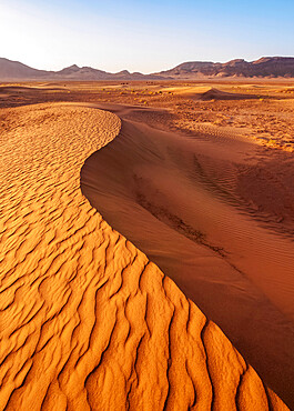 Zagora Desert at sunrise, Draa-Tafilalet Region, Morocco, North Africa, Africa