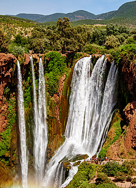 Ouzoud Falls, waterfall near the Middle Atlas village of Tanaghmeilt, Azilal Province, Beni Mellal-Khenifra Region, Morocco, North Africa, Africa