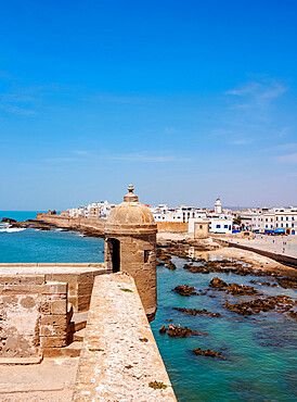 Citadel by the Scala Harbour, Essaouira, Marrakesh-Safi Region, Morocco, North Africa, Africa