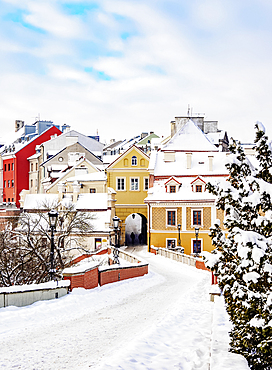 Grodzka Gate and the Old Town, winter, Lublin, Lublin Voivodeship, Poland