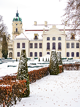 Zamoyski Palace in Kozlowka, winter, Lublin Voivodeship, Poland