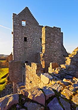 View of the Craigmillar Castle, Edinburgh, Lothian, Scotland, United Kingdom, Europe