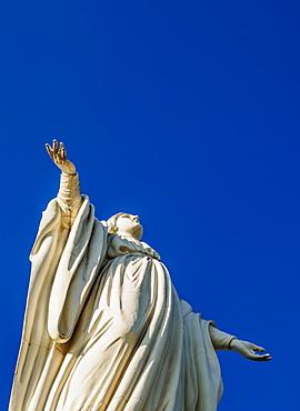 Virgin Mary Statue, San Cristobal Hill, Santiago, Chile, South America