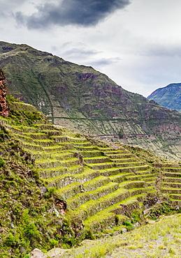 Inca Terraces, Pisac, Sacred Valley, Cusco Region, Peru, South America