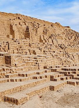 Huaca Pucllana Pyramid, Miraflores District, Lima, Peru, South America
