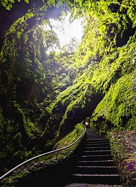Gruta do Algar do Carvao, cave, Terceira Island, Azores, Portugal, Atlantic, Europe