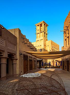 Al Bastakiya Historical Neighbourhood and Dubai Creek, Dubai, United Arab Emirates, Middle East