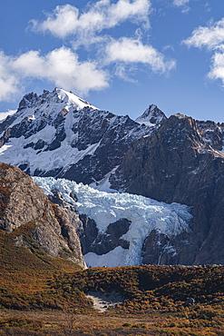 Piedras Blancas glacier in autumn, El Chalten, Santa Cruz province, Argentina, South America