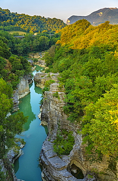 Marmitte dei Giganti canyon on the Metauro River, Fossombrone, Marche, Italy, Europe