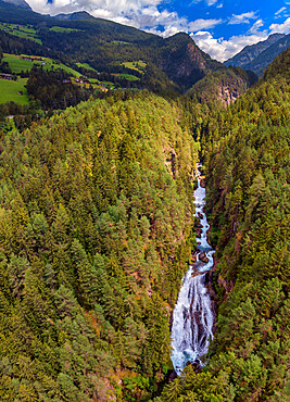 Italy, South Tyrol, Dolomites, Tures Valley, Tures Waterfalls