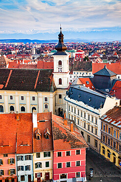 Old town of Sibiu, Transylvania, Romania, Europe
