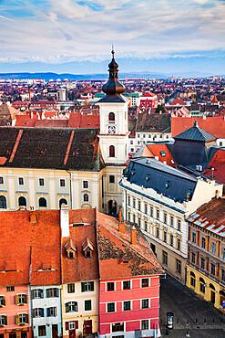 Old town of Sibiu, Transylvania, Romania