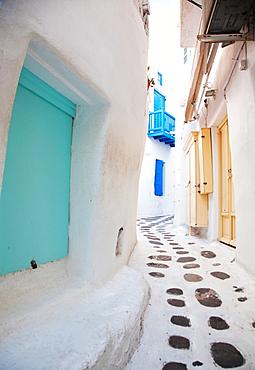 Streets of Mykonos, Cyclades, Greek Islands, Greece, Europe