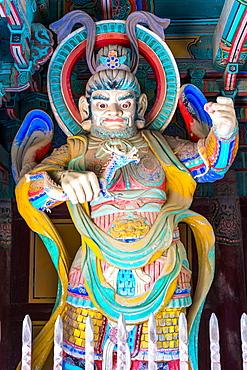 Temple guards at the gates of Pulguksa temple, Bulguksa Temple, Gyeongju, Kyongju, South Korea, Asia