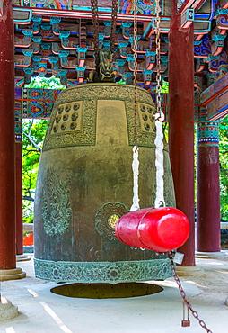Bulguksa Buddhist temple bell, Gyeongju, South Korea, Asia