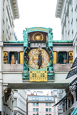 Ankeruhr (Anker clock) at Hohen Markt square, Vienna, Austria, Europe