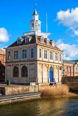 The Customs House on the historic Purfleet Quay in Kings Lynn, Norfolk, England, United Kingdom, Europe