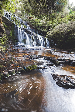 Purakaunui Falls Walk, The Catlins, South Island, New Zealand, Pacific - 1268-18