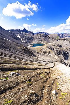 Lei da Muschauns in the Swiss National Park, Val Trupchun, Engadine Valley, Graubunden, Switzerland, Europe