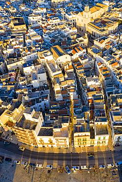 Aerial zenithal view of Putignano, Putignano, Apulia, Italy, Europe