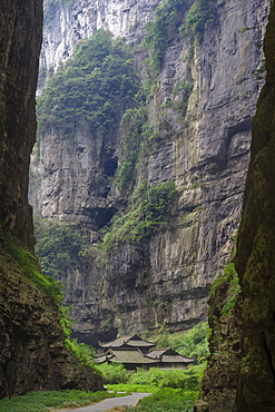 Three Natural Bridges of the Wulong Karst geological park, UNESCO World Heritage Site in Wulong county, Chongqing, China, Asia