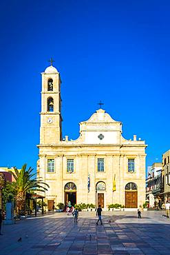 The Orthodox Cathedral, Chania, Crete, Greek Islands, Greece, Europe