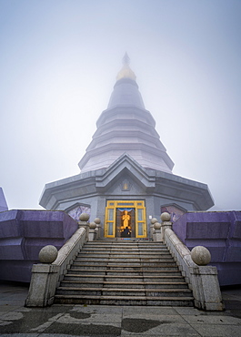King and Queen Pagodas, Doi Inthanon, Thailand, Southeast Asia, Asia
