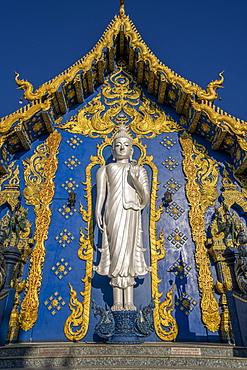 Wat Rong Suea Ten (Blue Temple) in Chiang Rai, Thailand, Southeast Asia, Asia